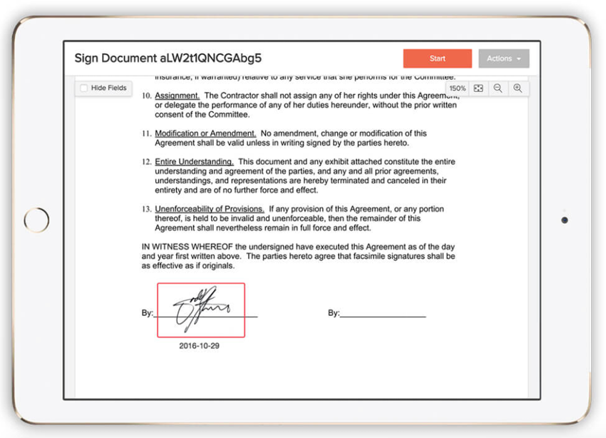 Eversign Paperless eSignature - Multiple Business Contracts