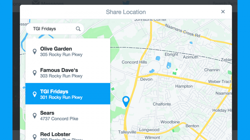 New Twitter Location Sharing Feature Aimed at Businesses Talking to Customers in DMs
