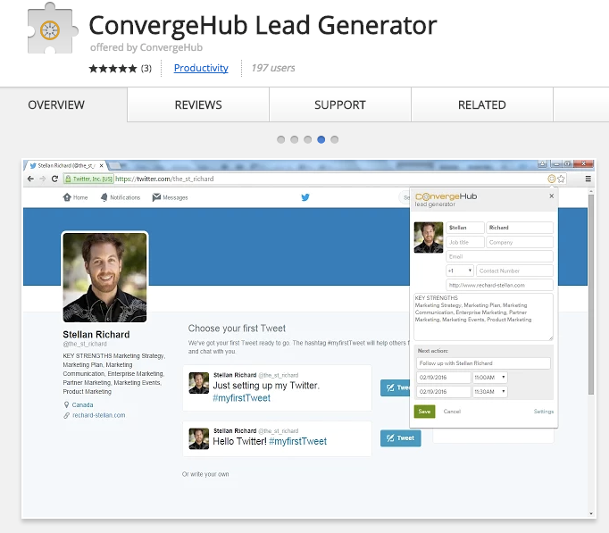 Best Chrome Extensions for Small Business - ConvergeHub Lead Generator