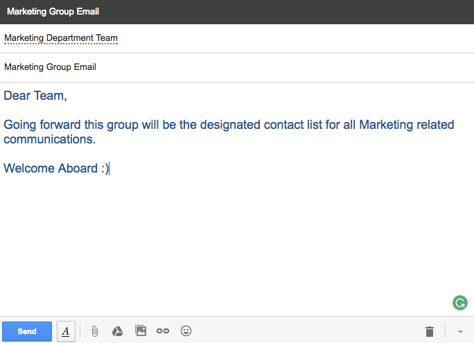 How to Make a Mailing List in Gmail - Using the List