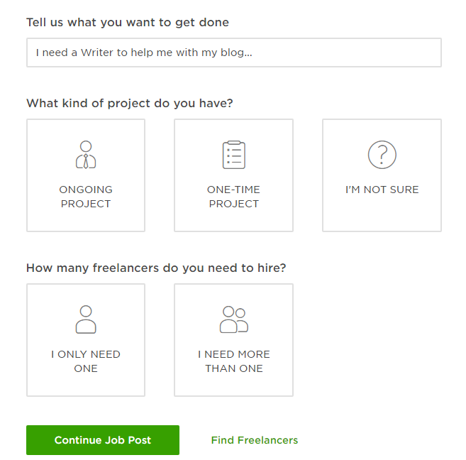 How to Post a Job on Upwork - About the Project