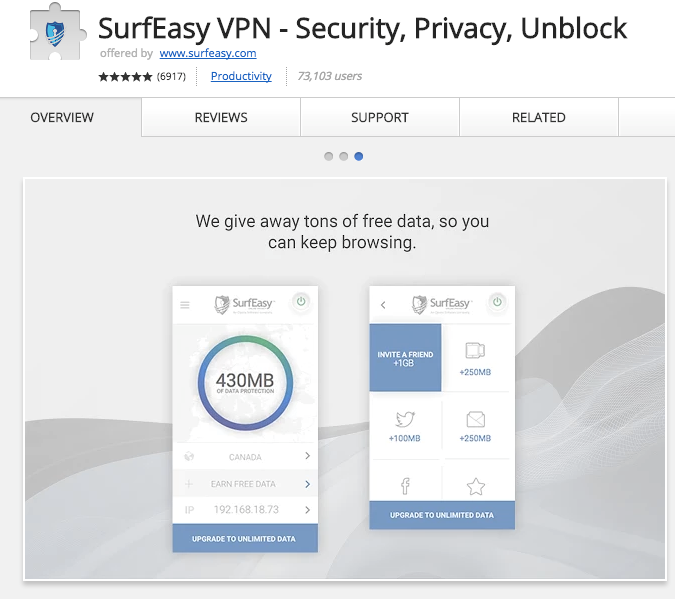 Best Chrome Extensions for Small Business - SurfEasy VPN – Security, Privacy, Unblock