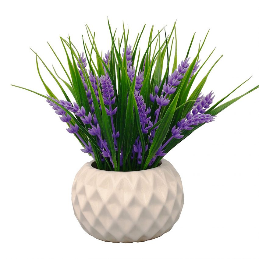 25 Office Desk Plants - Artificial Lavender