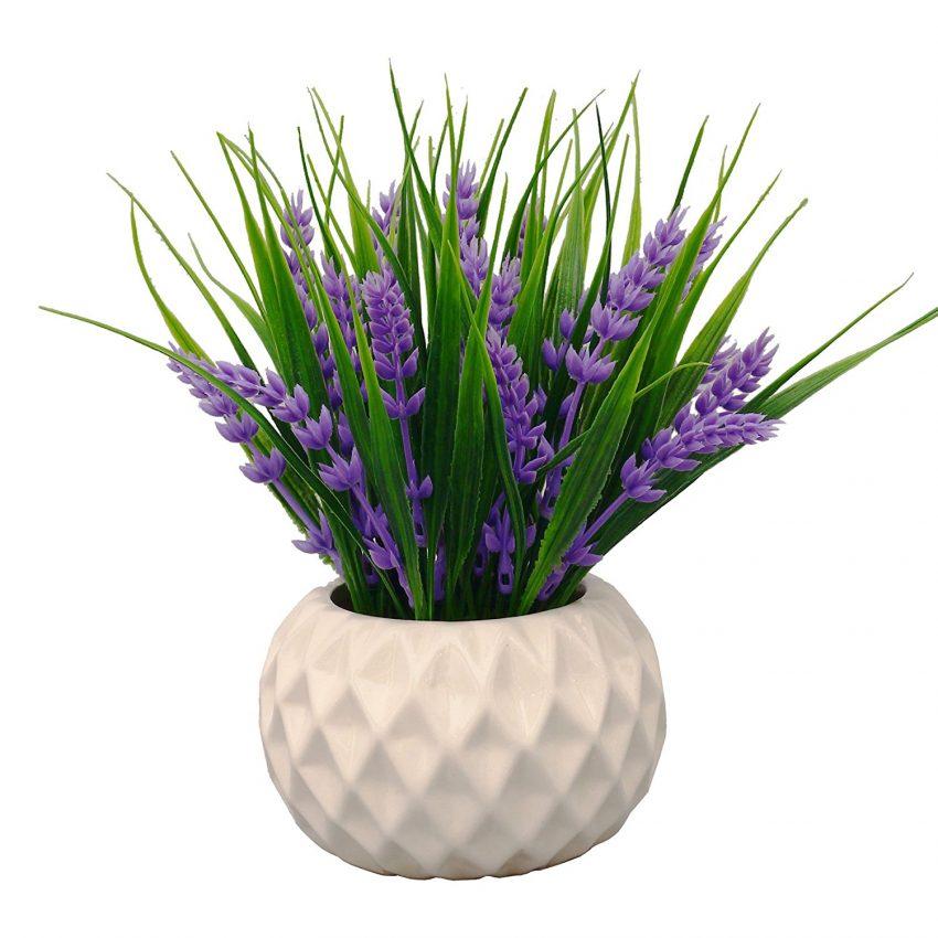 30 Office Desk Plants - Artificial Lavender