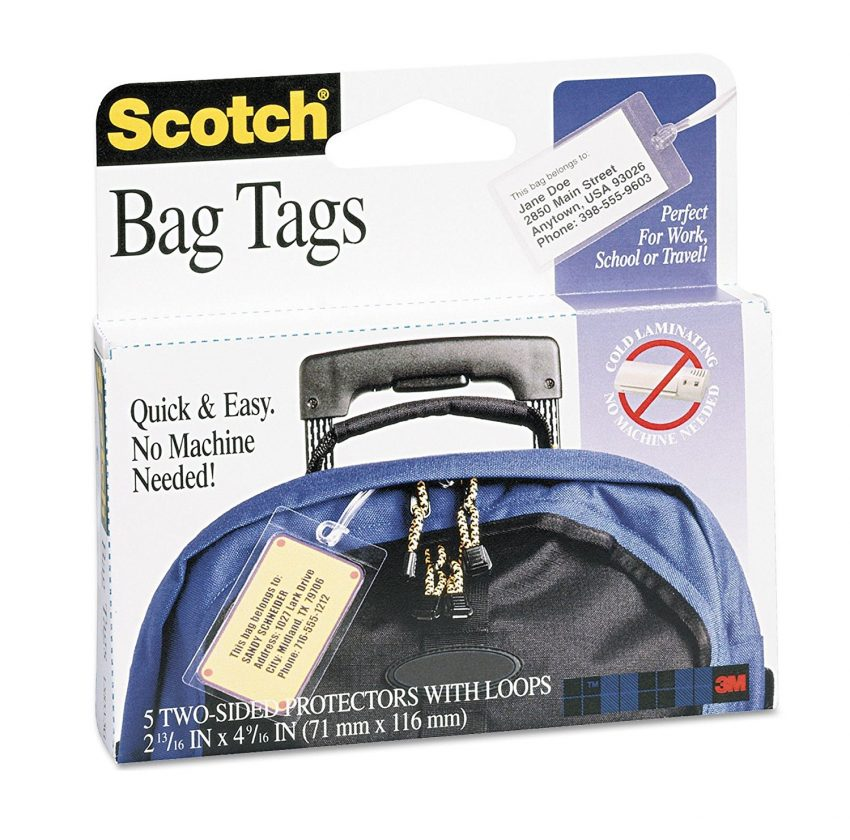 Must Have Travel Accessories - Self Sealing Bag Tags