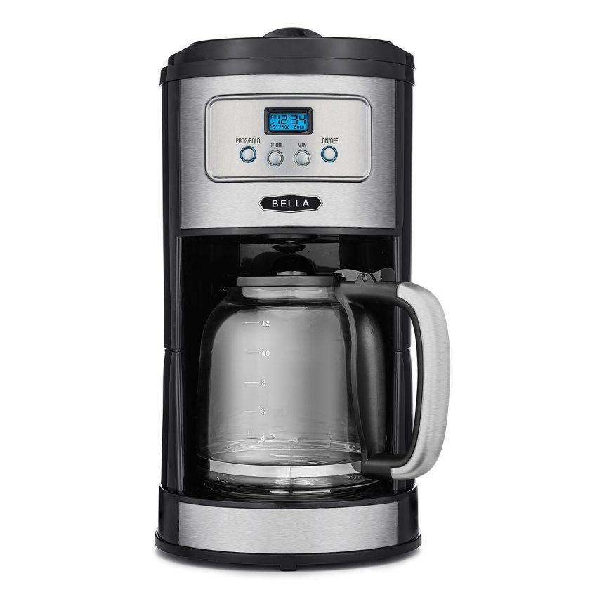 Office Coffee Machines for Your Small Business - Bella Stainless and Chrome Programmable Coffee Maker