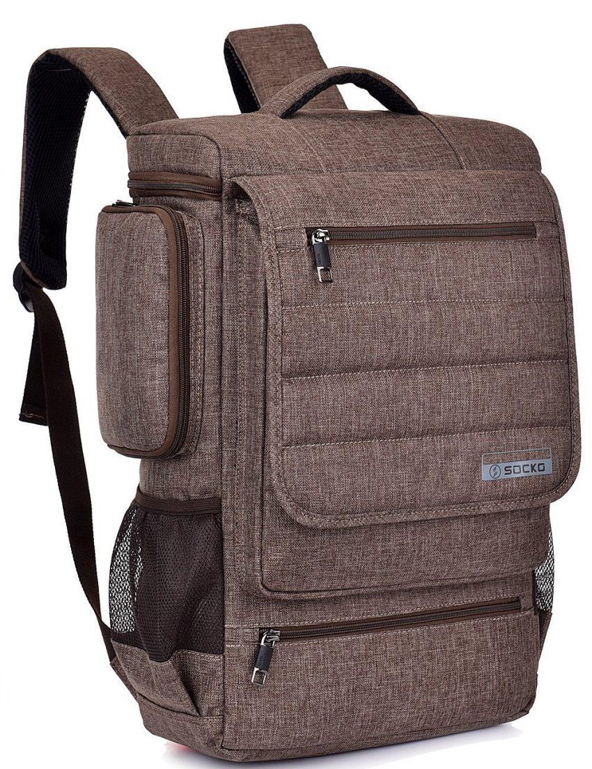 25 accessoires de voyage pour femmes - Brinch Laptop Backpack