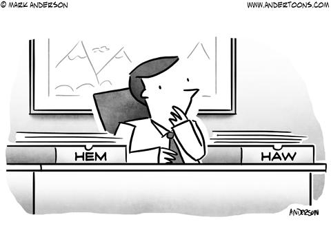 Undecided Business Cartoon