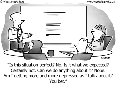Saying No Business Cartoon
