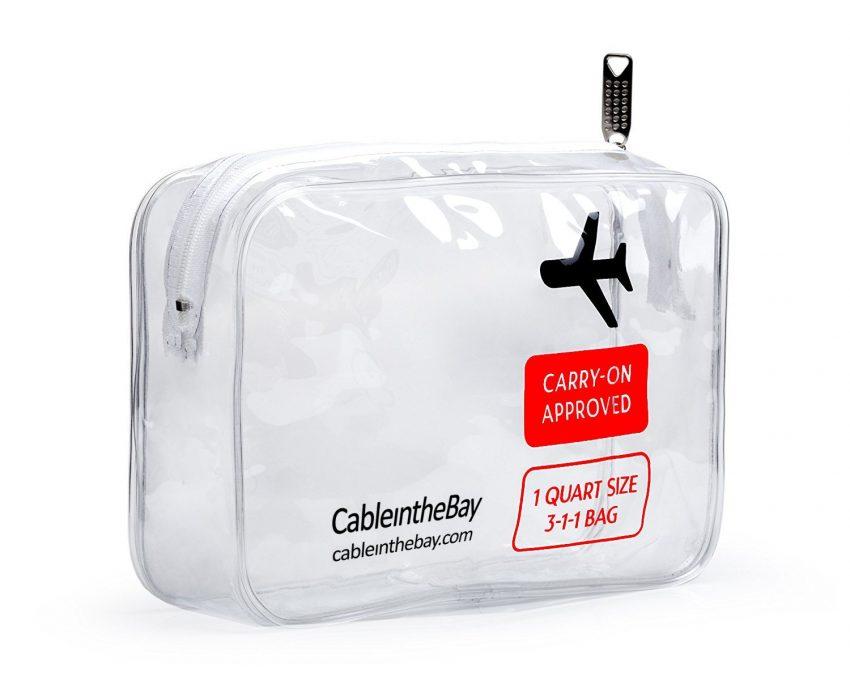 Accessoires de voyage indispensables - Trousse de toilette transparente