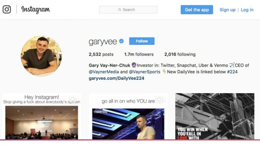50 Most Creative Instagram Bio Examples for Business Users - Gary Vaynerchuck