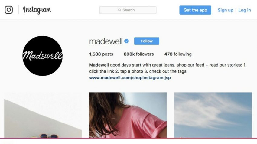 50 Most Creative Instagram Bio Examples for Business Users - Madewell
