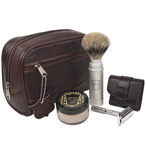 25 accessoires de voyage pour hommes - Parker Travel Shave Kit