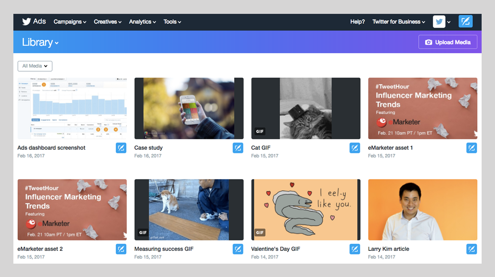 Twitter Media Library Aimed At Tempting Social Media Managers