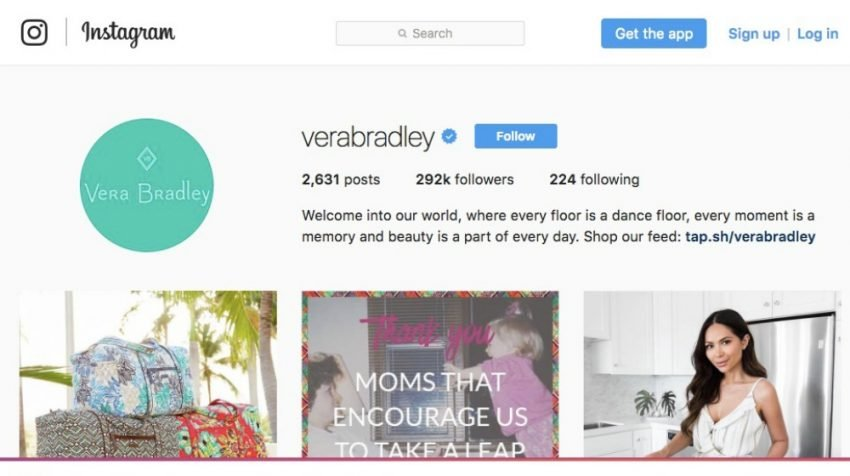 50 Most Creative Instagram Bio Examples for Business Users - Vera Bradley