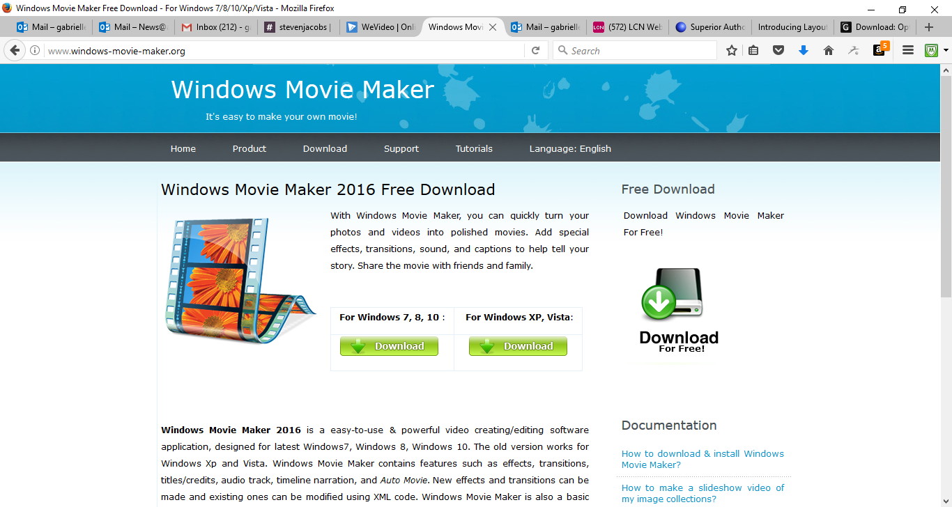 50 Free Marketing Tools Any Small Business Can Use - Windows Movie Maker