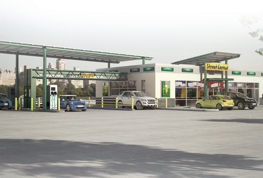 16 Gas Station Franchise Businesses - Street Corner