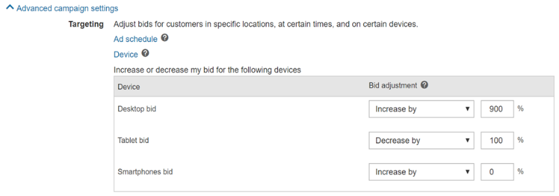 Expanded Device Targeting for Bing Ads