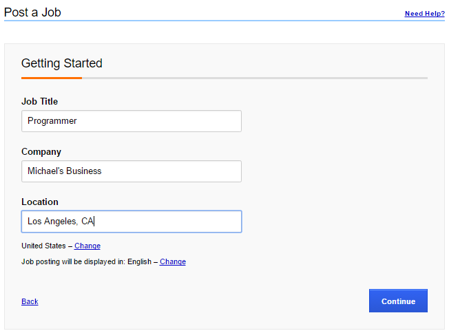 How to Post a Job on Indeed - Job Details