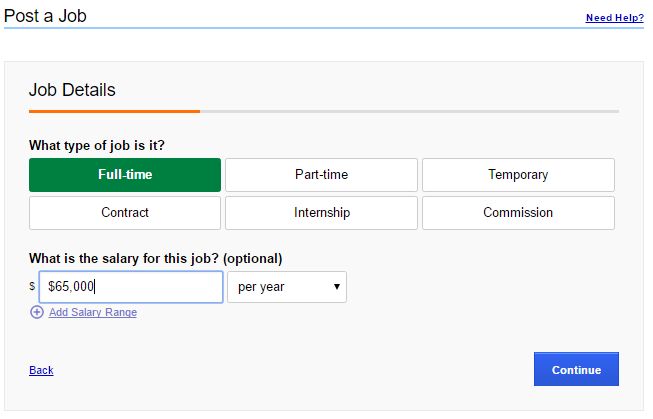 How to Post a Job on Indeed - Job Details 2