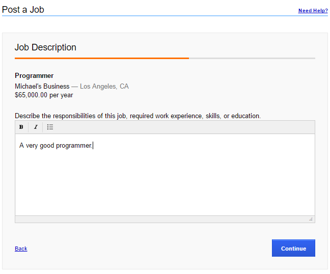 How to Post a Job on Indeed - Job Details 4
