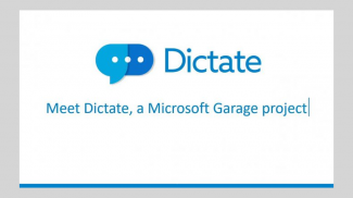 Microsoft Dictate Types While You Talk
