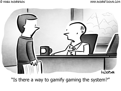 Gamification Business Cartoon