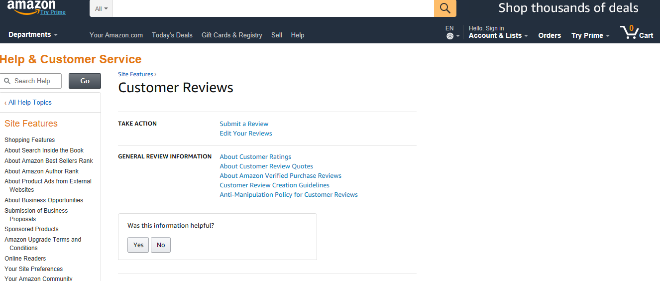 24 Business Review Sites to Help Monitor Your Online Reputation - Amazon Customer Reviews