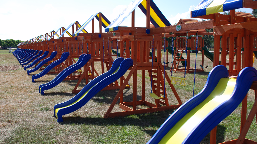 Small Business Guinness World Record Inspiration - Longest Line of Swing Sets