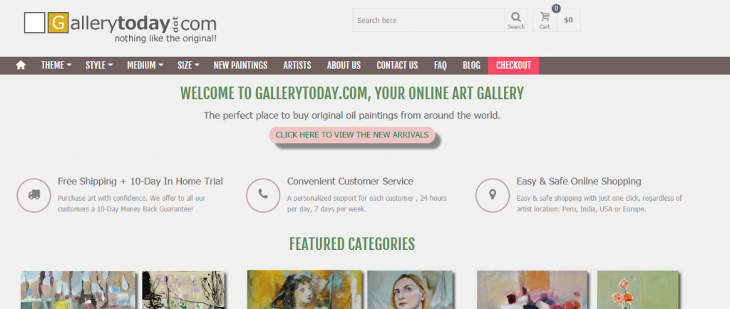 Where to Sell Art Online - Gallery Today