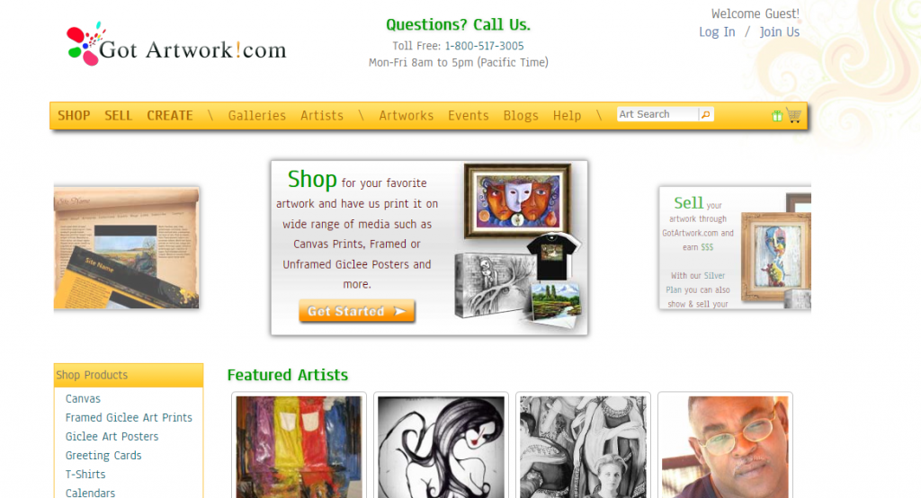 Building a small business with your creativity 24 places for Sites to sell art