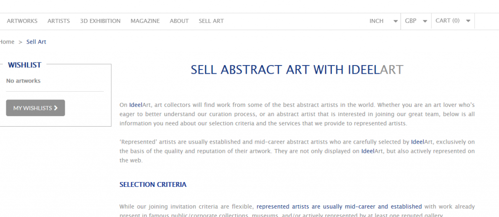 Where to Sell Art Online - Ideel Art