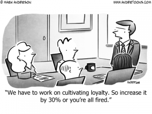 Customer Loyalty Business Cartoon