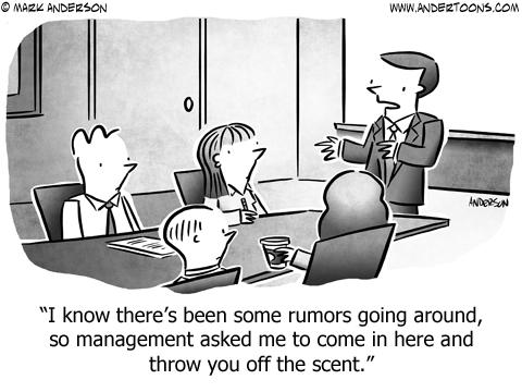 Misdirection Business Cartoon