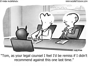 Legal Counsel Business Cartoon