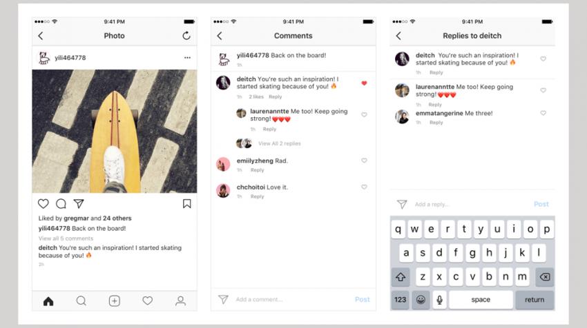 Instagram Comment Threads Organize Conversations