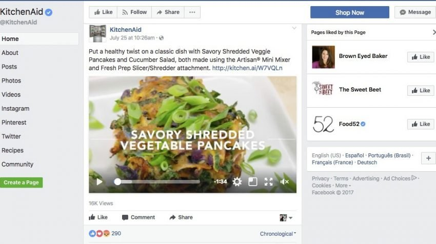 50 Facebook Page Examples to Keep Your Brand Page Fresh - KitchenAid