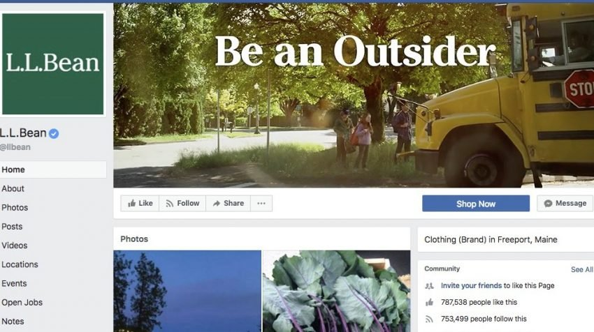 50 Facebook Page Examples to Keep Your Brand Page Fresh - L.L.Bean