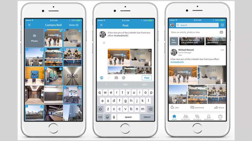 Multiple Photos and Sharing Enhancements Among August 2017 LinkedIn Changes