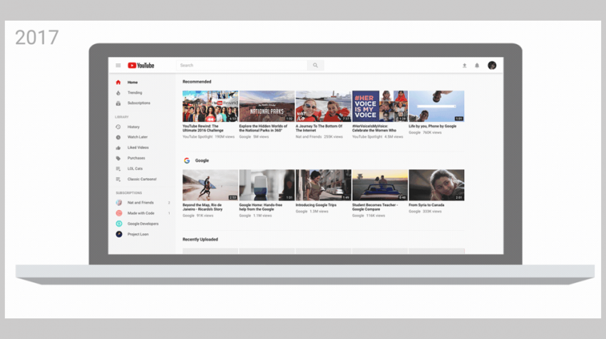 Google's YouTube Rolling Out New Features and a New Look