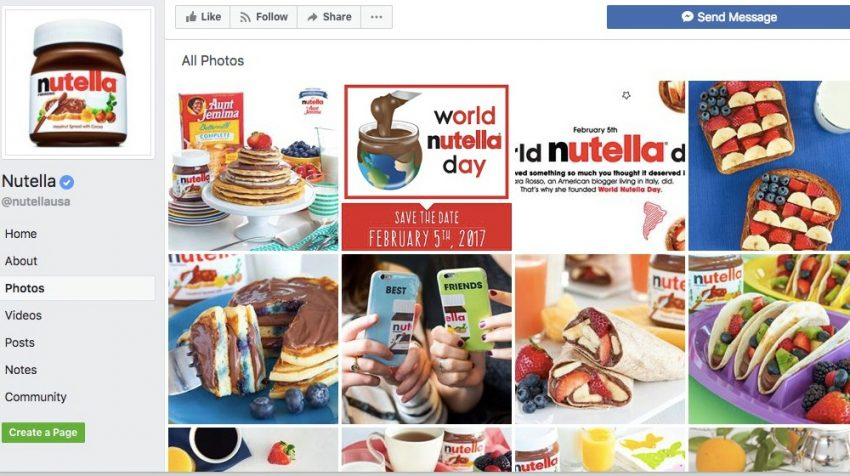 50 Facebook Page Examples to Keep Your Brand Page Fresh - Nutella