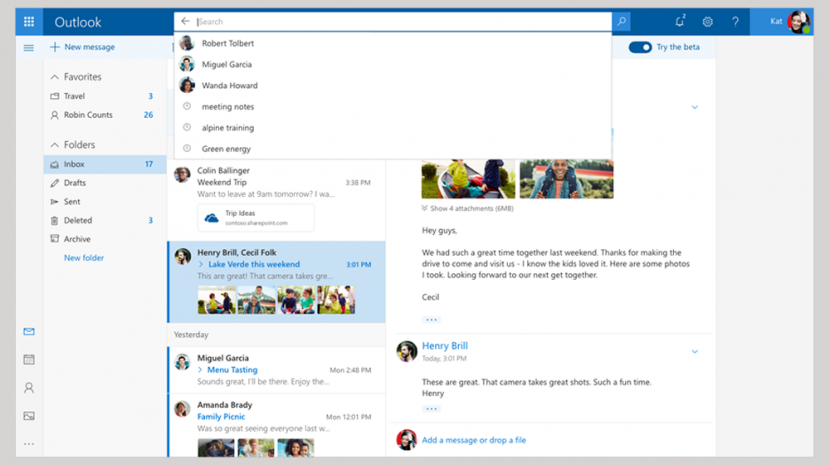 Microsoft Unveils Outlook Beta Version and Wants Your Feedback