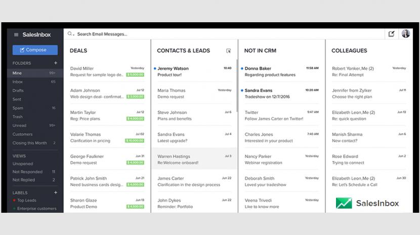 Zoho SalesInbox for Salesforce