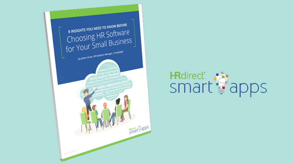 Where Does HR Software Fit in with Your Small Business? This Free e-Book from HRdirect Smart Apps has the Answers