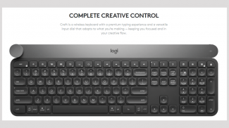 Logitech CRAFT Wireless Keyboard Maximizes the Creative Process in Photoshop, Excel, Word, and More