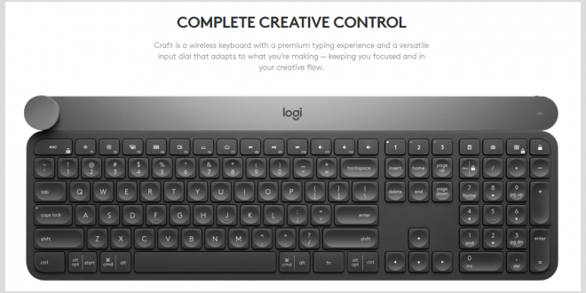 bd2f836e218 Logitech CRAFT Keyboard Should Help Small Businesses to Edit Video, Work In  Adobe and More - Small Business Trends