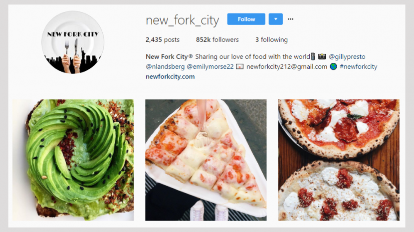 Instagram-Based Small Business New Fork City Nears a Million Followers