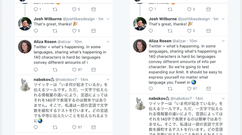 Twitter Testing 280 Character Tweets