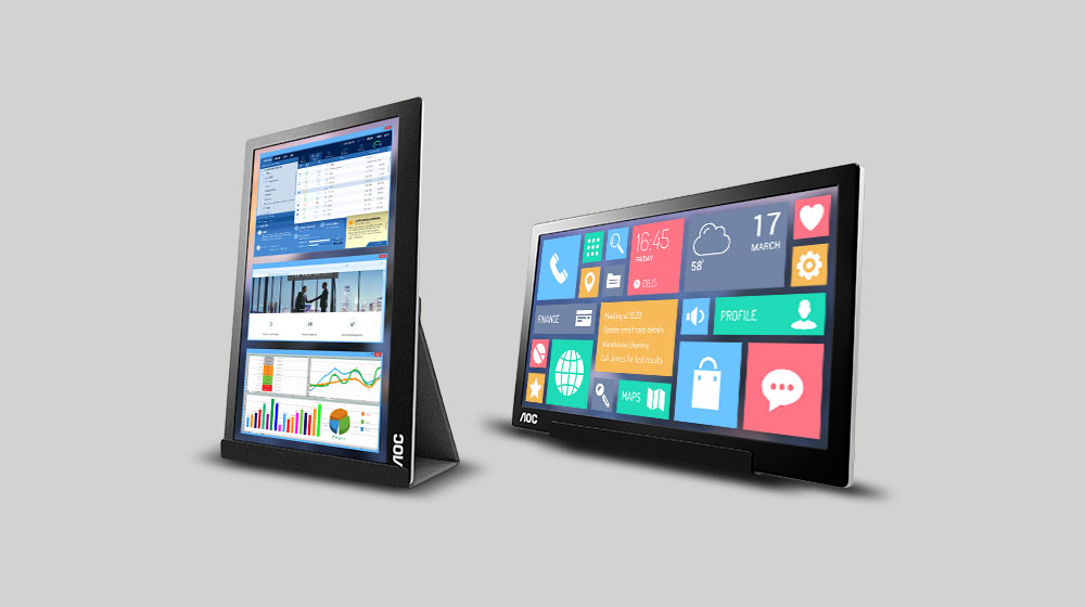 AOC i1601fwux Monitor is 16-Inches and Weighs Less Than 2 Pounds