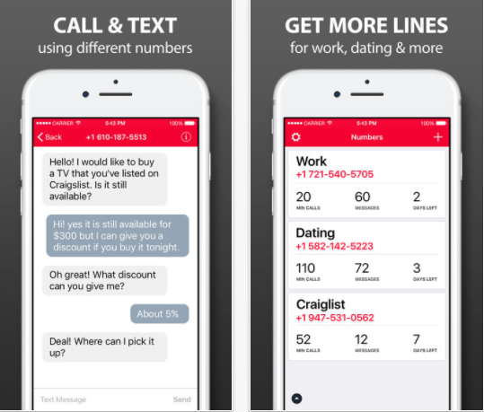 25 Android and iPhone Second Phone Number Apps for Business Only Calls - Second Phone Number